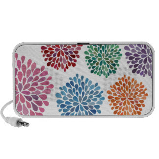 Rainbow Colorful Stylish Modern Floral Speakers