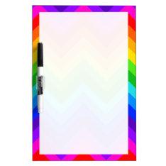 Rainbow Colors #2 Large Chevron Zigzag Pattern Dry Erase Board at Zazzle