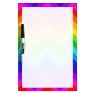 Rainbow Colors #2 Large Chevron ZigZag Pattern Dry Erase Board