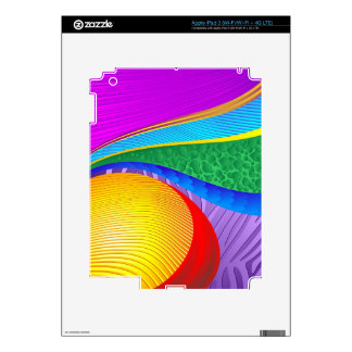 Rainbow Colors Abstract Fantasy Decals For iPad 3