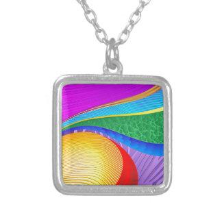 Rainbow Colors Abstract Fantasy Custom Necklace