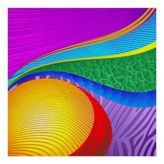 Rainbow Colors Abstract Fantasy posters