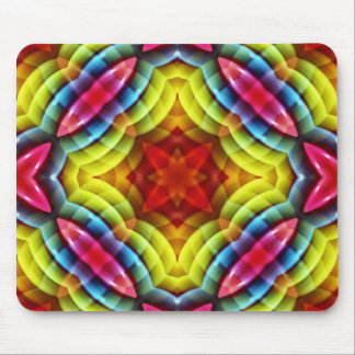 Rainbow Colors Abstract Pattern Mouse Pad