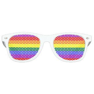 Rainbow Colors Adult Wayfarer Party Shades