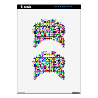 Rainbow Colors And Pastels Square Tiles Pattern Xbox 360 Controller Skin