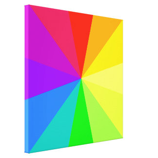 Rainbow Colors Art Gallery Wrap Canvas