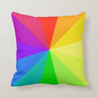 Rainbow Colors Art Throw Pillow