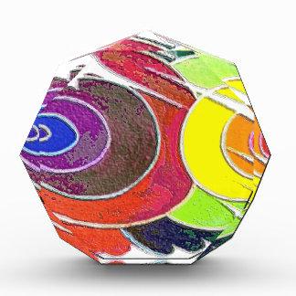 Rainbow  Colors Award Spirals Painting