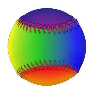 Rainbow Colors Baseball Ball