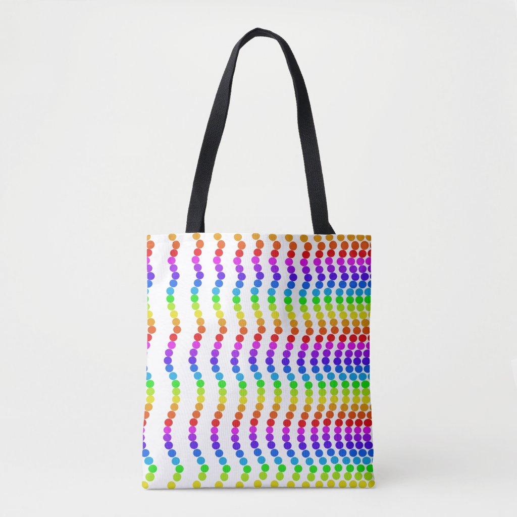 Rainbow Colors Beach Totes Vibrant Fun