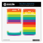 Rainbow Colors BlackBerry Bold Decals