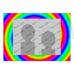 Rainbow Colors. Bright and Colorful. Custom Photo. Greeting Card