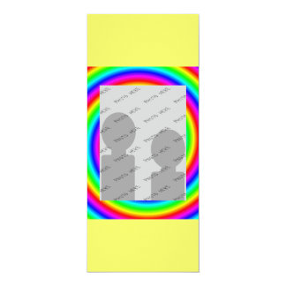 Rainbow Colors. Bright and Colorful. Custom Photo. 4x9.25 Paper Invitation Card