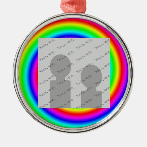 Rainbow Colors. Bright and Colorful. Custom Photo. Ornaments