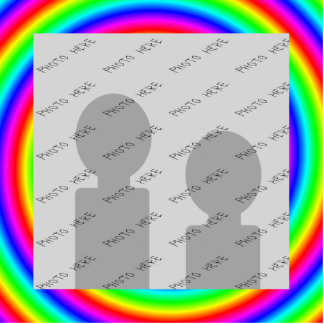 Rainbow Colors. Bright and Colorful. Custom Photo. Cut Outs