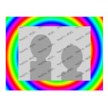 Rainbow Colors. Bright and Colorful. Custom Photo. Postcards