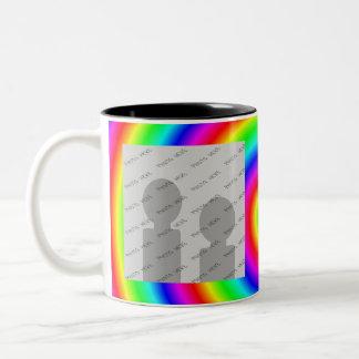 Rainbow Colors. Bright and Colorful. Custom Photo. Two-Tone Coffee Mug