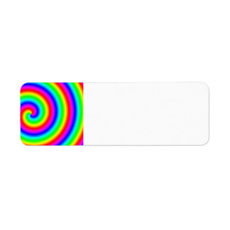 Rainbow Colors. Bright and Colorful Spiral. Label