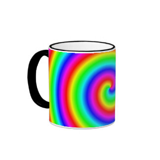 Rainbow Colors. Bright and Colorful Spiral. Mug
