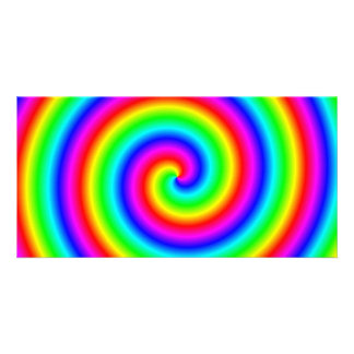 Rainbow Colors. Bright and Colorful Spiral. Photo Card