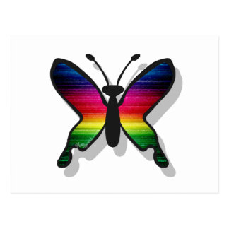 Rainbow Colors Butterfly Postcard