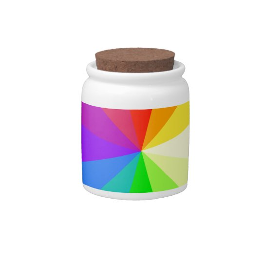 Rainbow Colors Candy Dish