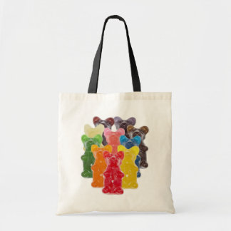 rainbow colors candy lover gummy bear tote bag