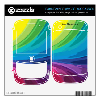 Rainbow Colors Cell Phone Skin BlackBerry Curve 3G Decal