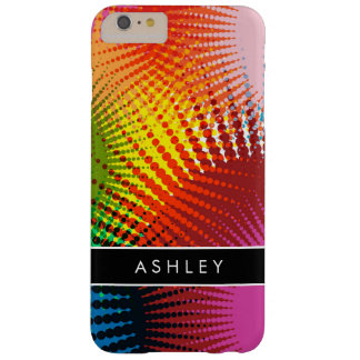 Rainbow Colors - Colorful Abstract Personalized Barely There iPhone 6 Plus Case