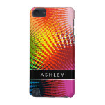 Rainbow Colors - Colorful Abstract Personalized iPod Touch 5G Cover