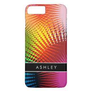 Rainbow Colors - Colorful Abstract Personalized iPhone 8 Plus/7 Plus Case