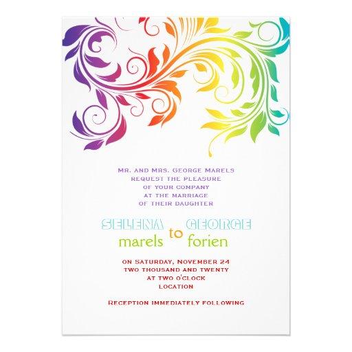 rainbow wedding invitations 28 images rustic wedding invitation