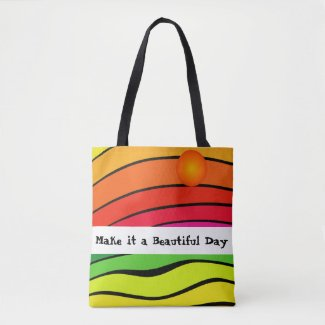 Rainbow Colors Colorful Summer Beach Tote