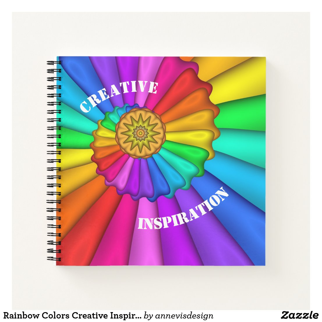 Rainbow Colors Creative Inspiration Notebook