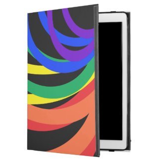 Rainbow Colors Crescent Pattern iPad Pro Case
