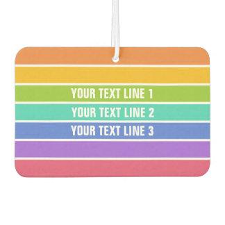 Rainbow Colors custom air freshner Air Freshener