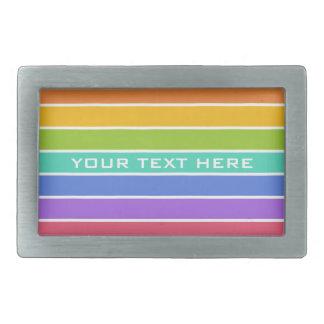 Rainbow Colors custom belt buckle