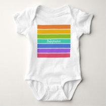 Rainbow Colors custom clothing Baby Bodysuit