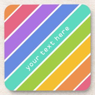 Rainbow Colors custom coasters