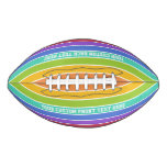 Rainbow Colors custom football
