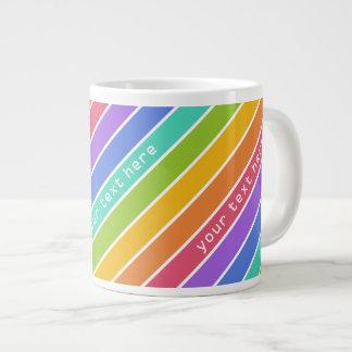 Rainbow Colors custom mugs 20 Oz Large Ceramic Coffee Mug