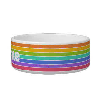 Rainbow Colors custom pet bowls
