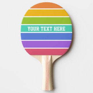 Rainbow Colors custom ping pong paddle