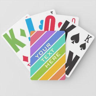Rainbow Colors custom playing cards