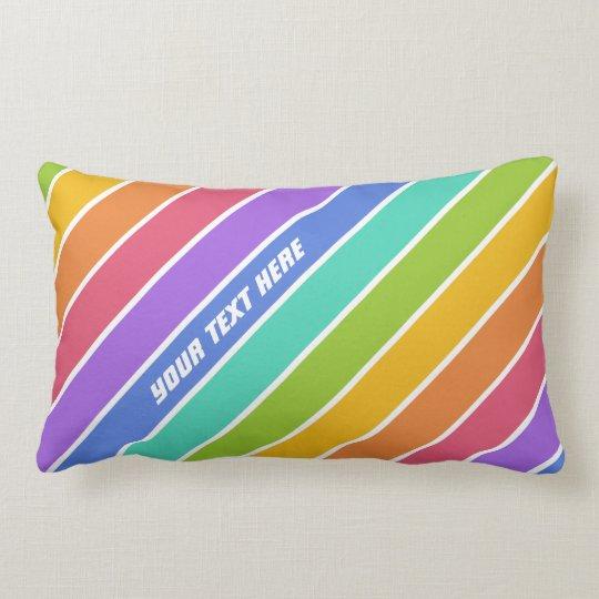 Rainbow Colors custom throw pillows Zazzle