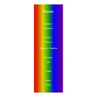 RAINBOW COLORS Design Mini Business Card