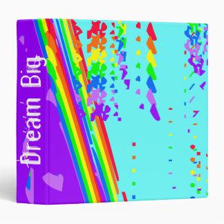 Rainbow Colors Designed Binder