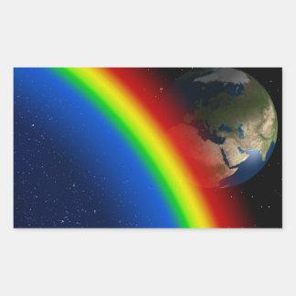 Rainbow Colors Destiny Stars Space World Rectangular Sticker