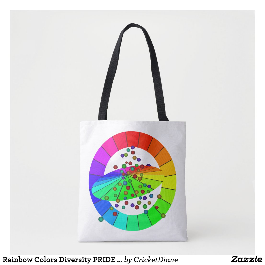 Rainbow Colors Diversity PRIDE Artsy Fun Tote Bags