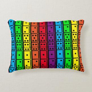 Rainbow Colors Dominoes Decorative Pillow